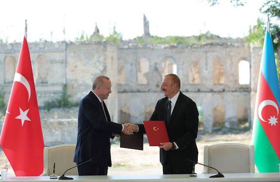In Shushi Erdogan Signs 'Alliance Accord' with Aliyev
