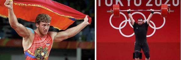Aleksanyan, Martirosyan Win Silver Medals in Tokyo While Bachkov Advances