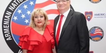 Honoring His Late Wife Satig's Wish and Request, Meher Der Ohanessian Donates $10,000 to Asbarez