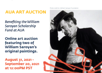 AUA Art Auction to Feature Artwork by William Saroyan