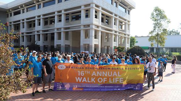 ABMDR Simultaneous East and West Coast Walkathons Honor Artsakh's Fallen Heroes