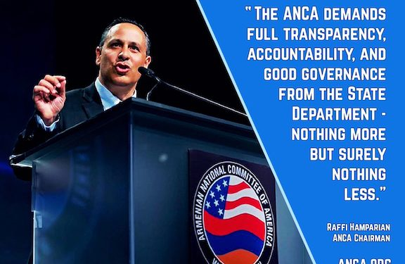 ANCA Calls for Congressional Investigation into State Department Failures Related to Armenia and Artsakh