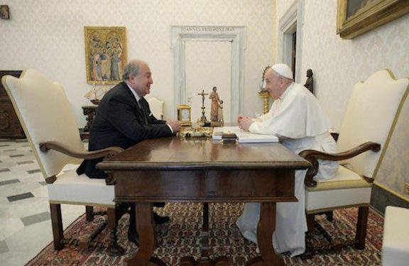 President Sarkissian Discusses Artsakh with Pope